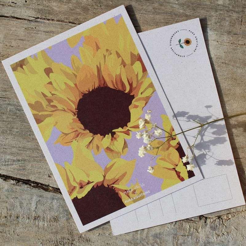 carte postale tournesols