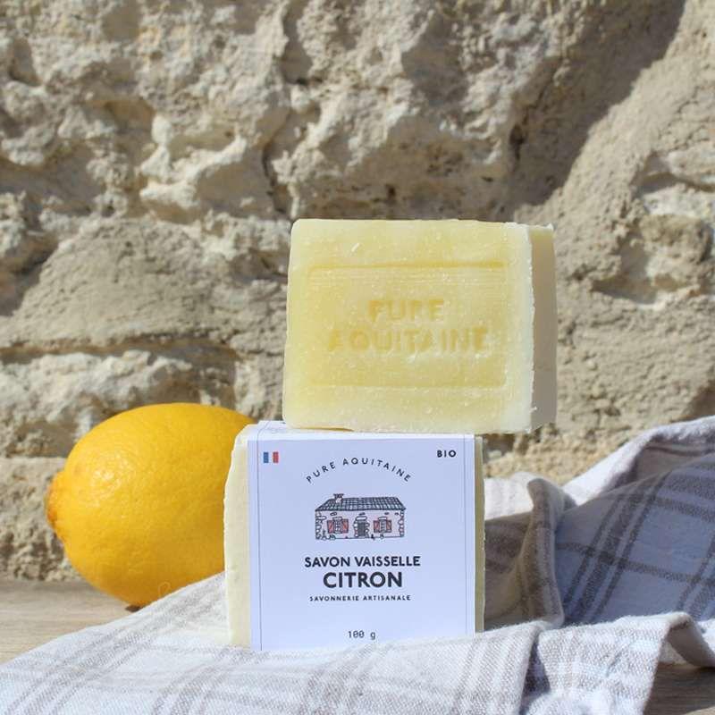 cube vaisselle citron